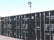 STORE-IT containers with CCTV and floodlight